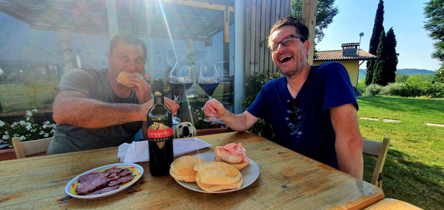 Berdt and his family - Breakfast at La Guarda
