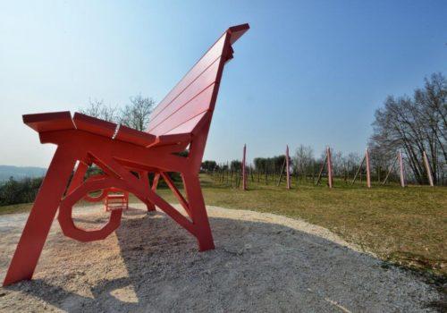 Panchina rosa -Valtenesi - La Guarda